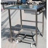 โต๊ะสแตนเลส 53x75x80 ซม. (มือสอง)