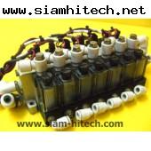 Vacuum Switch SMCพร้อมโซลินอยด์วาล์ว7ตัว 24VDC  มือสอง