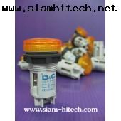 Push Botton ยี่ห้อD&C รุ่นXB7-EV65 240V max Neon - สีเหลือง